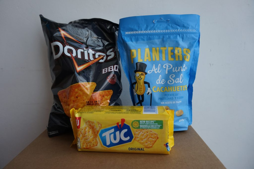 degustabox julio 2018 snacks