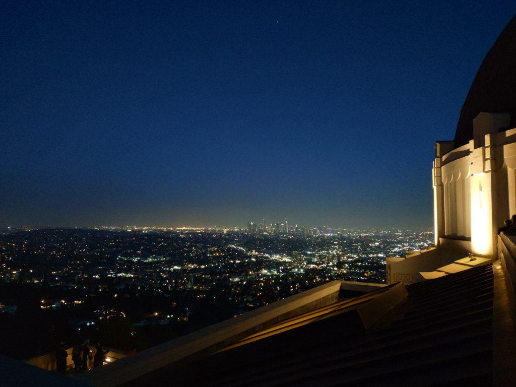 observatorio griffith de noche