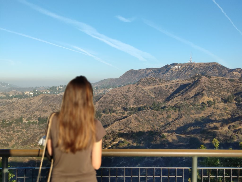 hollywood sign view from griffith