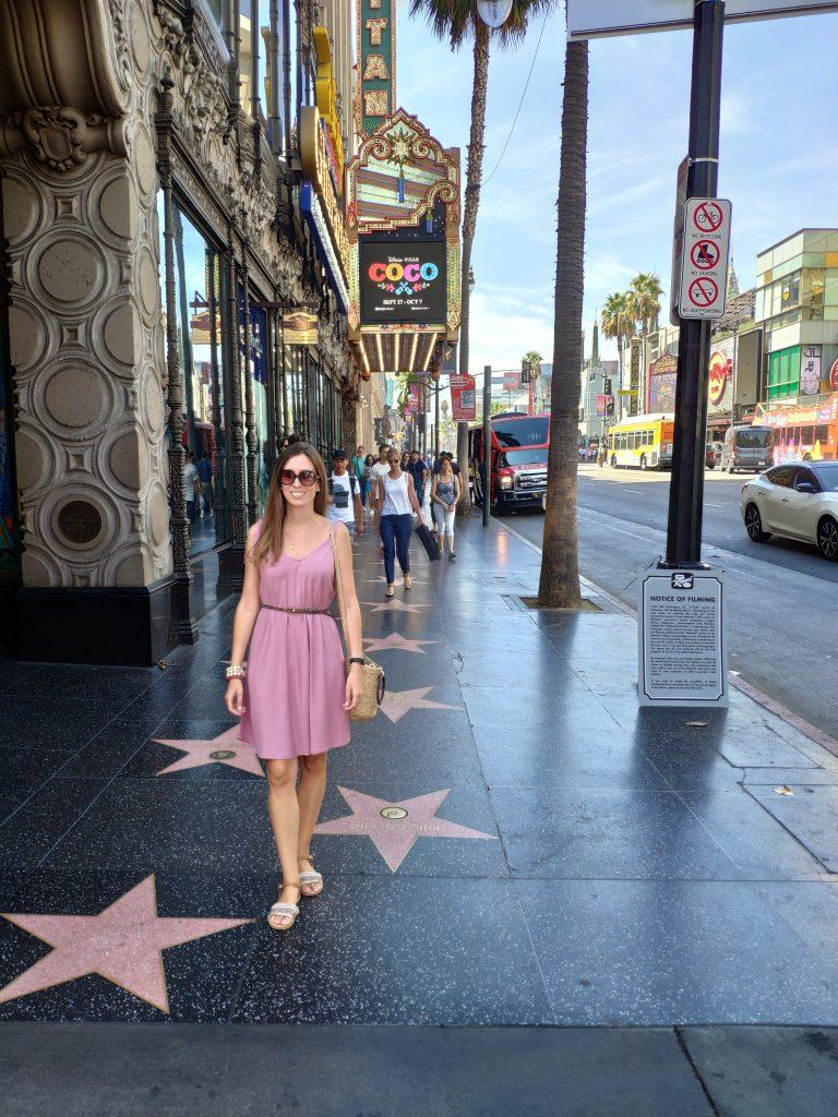 paseo de la fama de hollywood en los angeles