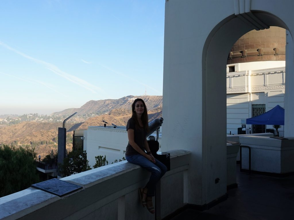 griffith observatory sunrise hollywood view