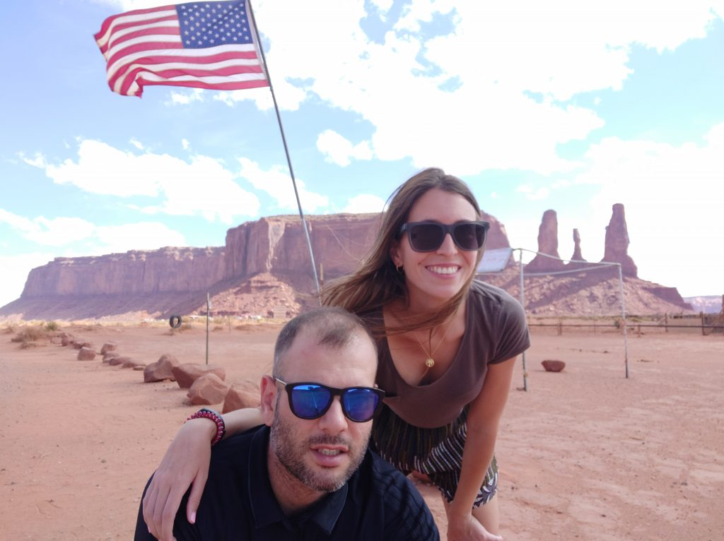 american flag monument valley
